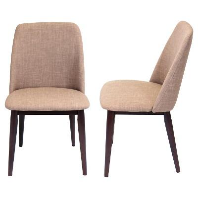 Tintori Mid Century Modern Dining Chairs Wood/Espresso (Set Of 2