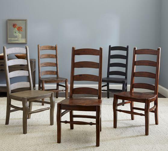 Wynn Ladderback Dining Chair   Pottery Barn