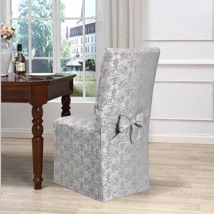 Skirted Dining Chair Cover   Wayfair