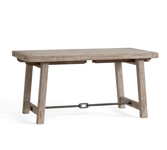 Benchwright Extending Dining Table, Gray Wash | Pottery Barn