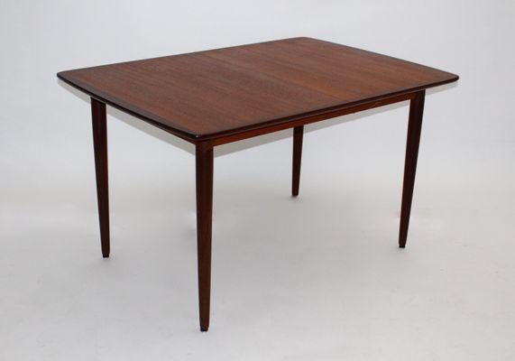 Danish Teak, Rosewood, and Ash Rectangular Extending Dining Table