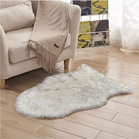 Amazon.com: 2.5x4 Feet Faux Sheepskin Rug Carpet Shaped Sheepskin