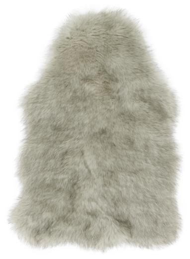 Felice Faux Sheepskin Rug, Grey