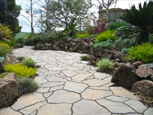 Flagstone Patio Landscape Design Tri Valley and Greater Bay Area
