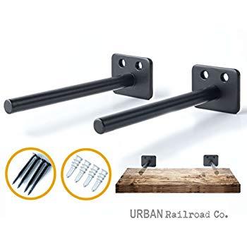 Amazon.com: Solid Steel Floating Shelf Brackets - 6