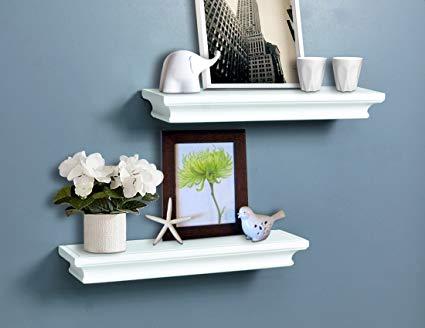Amazon.com: AHDECOR White Floating Shelves, Ledge Wall Shelf for