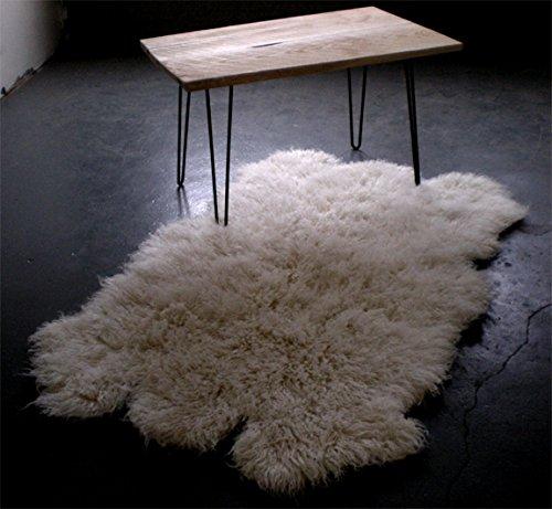 Amazon.com: 5' x 7' Sheepskin shape flokati rug / Plush 3.25