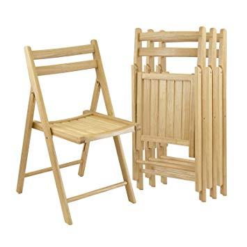 Amazon.com - Winsome Wood Folding Chairs, Natural Finish, Set of 4
