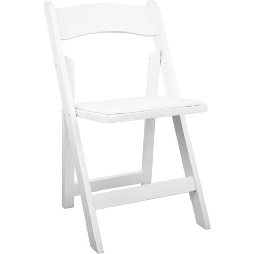 White Wood Folding Wedding Chair   Padded Wedding Chairs For Sale