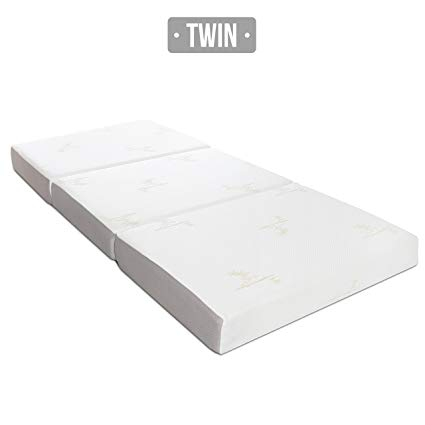 Amazon.com: Milliard TWIN 6-Inch Memory Foam Tri-fold Mattress with