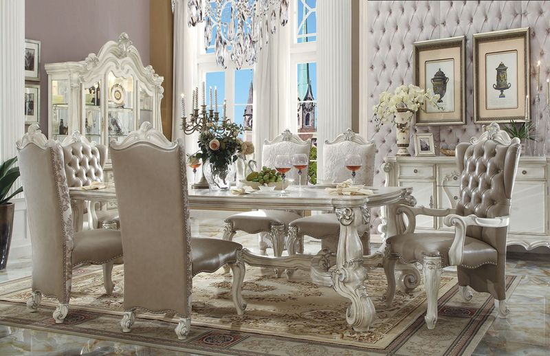 Acme | 61145 Versailles Formal Dining Room Set in White | Dallas