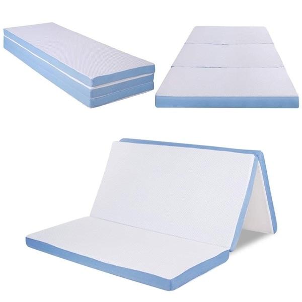 Shop Cr Sleep 3-inch Full-size Folding Portable Memory Foam Mattress