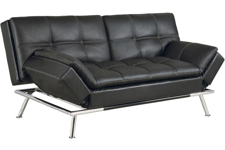 Best Futon Couch   Matrix Convertible Futon Sofa Bed Sleeper Black