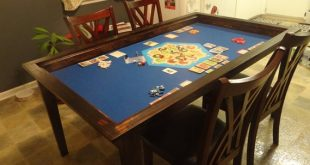 Board Game Table with Removable Topper | Etsy