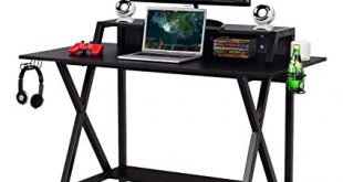 Amazon.com : Tangkula Gaming Desk, Gaming Computer Desk, Gamers