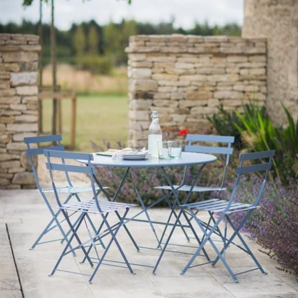 Garden Bistro Set Table & 4 Chairs in Clay   Spaces: Exterieur