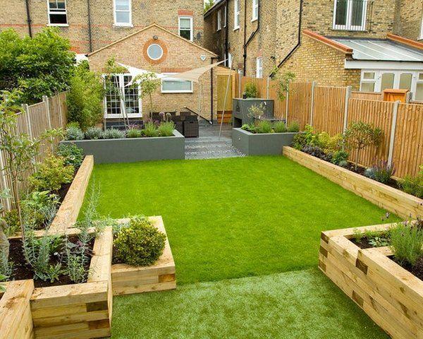 backyard design ideas garden sleepers raised garden beds ideas