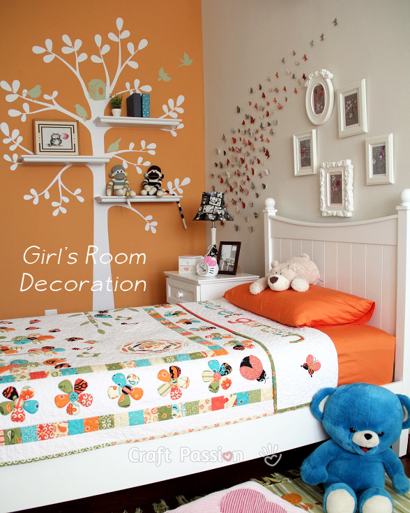 Girl's Bedroom Decoration Ideas - Home Decor | Craft Passion