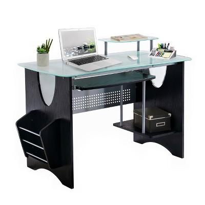 Tempered Glass Computer Desk - Techni Mobili : Target