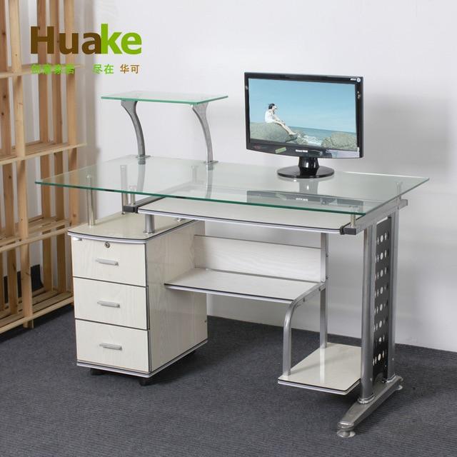 China glass computer desk computer desk can computer desktop
