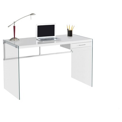 Tempered Glass Computer Desk - Glossy White - EveryRoom : Target