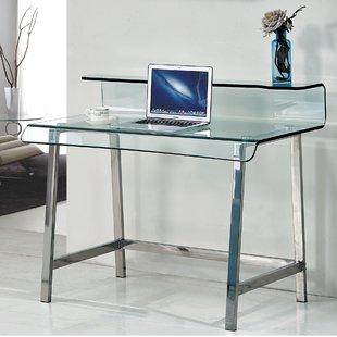 Curved Glass Desk | Wayfair.co.uk