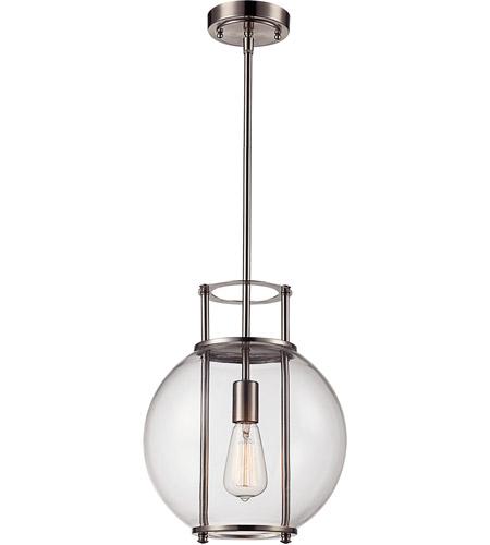 Trans Globe Lighting PND-2030-BN Grove 1 Light 12 inch Brushed