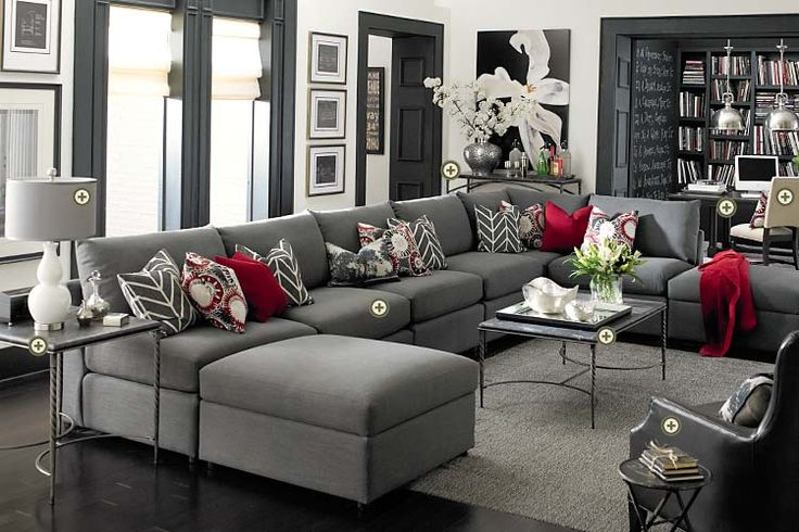 Interior. Charming Gray Living Room Furniture: awesome gray living