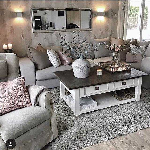 Elegance Grey Living Room   Furniture