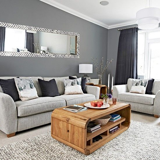 Chic grey living room with clean lines   Home Sweet Home.   Living