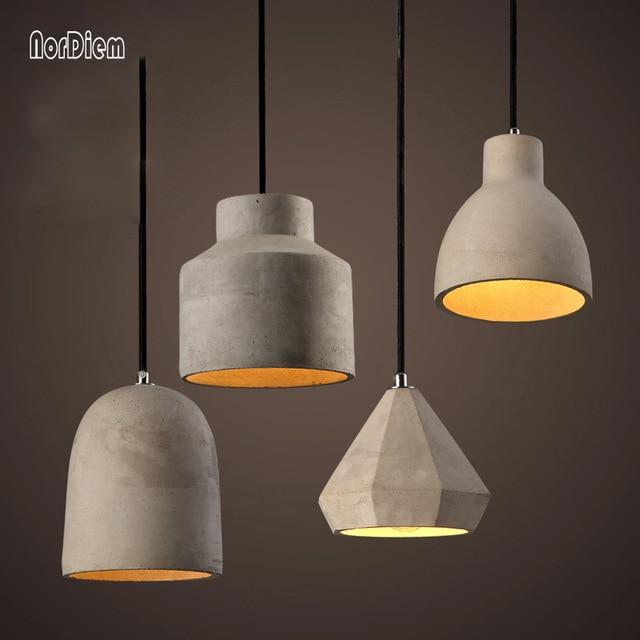 20 Kinds Loft Cement Pendant Lights Modern Industrial Concrete