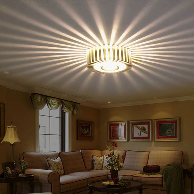 Home LED 3W Hall Light Walkway Porch Decor Lamp Sun Flower Creative
