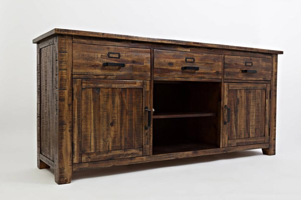 Jofran Furniture Cannon Valley Distressed 70 Inch Media Unit   The