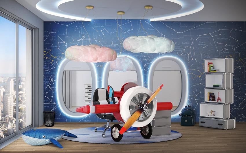 Kids' Room Design - Sky Collection for Little Pilots   Archi-living.com