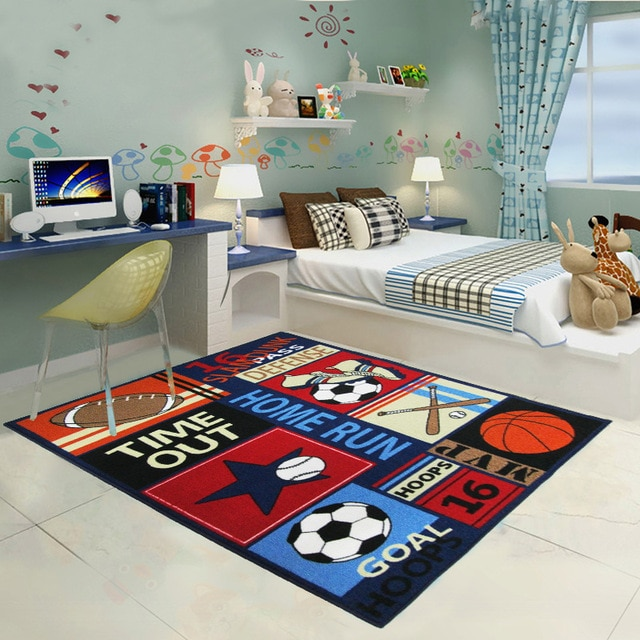 New Design Kids Rugs and Carpets for Living Room Sports Style