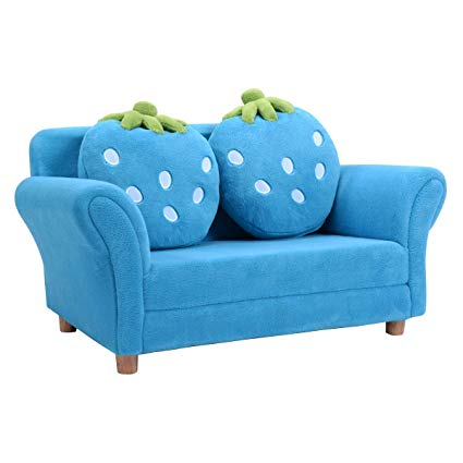 Amazon.com: Kids Sofa Strawberry Armrest Chair Lounge Couch w/2