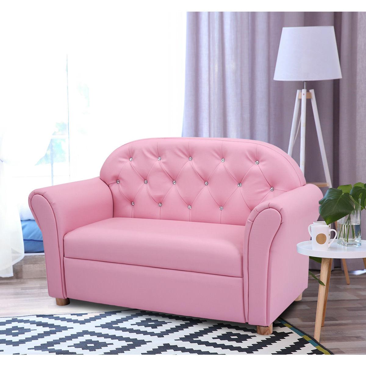 Costway Kids Sofa Princess Armrest Chair Lounge Couch Children