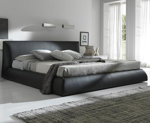 Calabria Brown Upholstered Italian Bed: King Size
