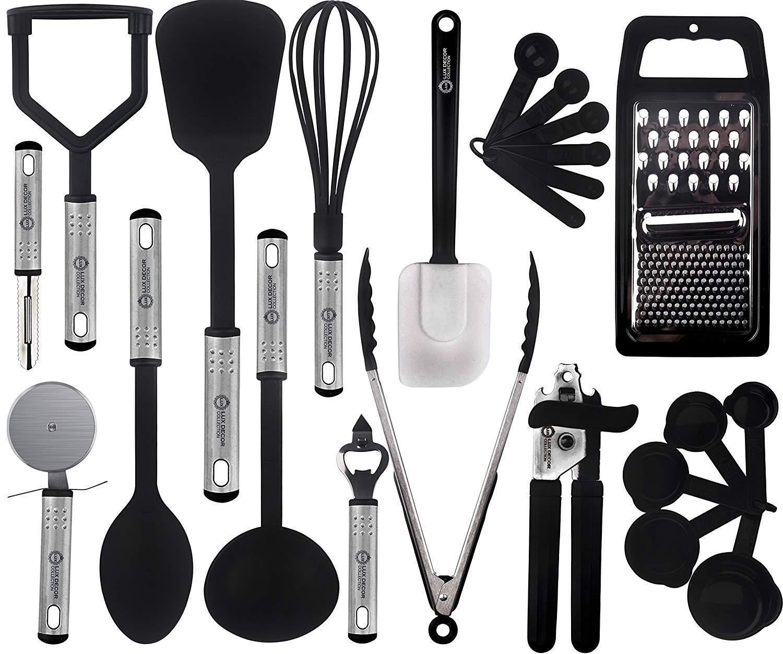 Lux Decor Cooking Utensils Set u2013 23 Pieces u2013 Nylon Kitchen Utensils