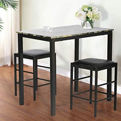 Amazon.com - Dining Kitchen Table Dining Set Marble Rectangular