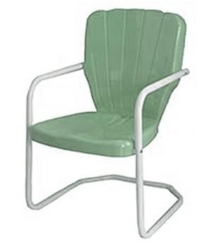 Thunderbird Style Metal Retro 1950's Lawn Chair