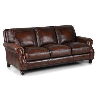 Caramel Leather Sofa   Wayfair