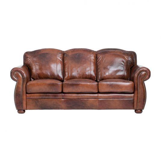 Terraso Sofa in Chocolate 100% Leather   Jerome's Furniture