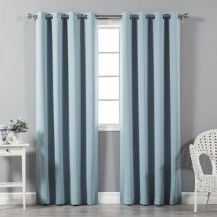 Blue Curtains & Drapes You'll Love | Wayfair