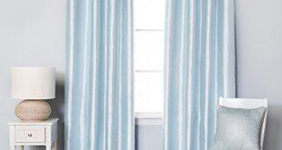 Light Blue Curtains Faux Silk: Amazon.com