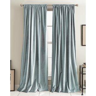 Light Blue Velvet Curtains | Wayfair
