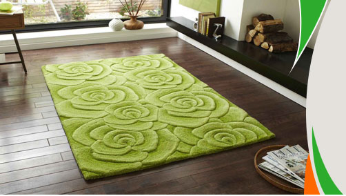 Green Rugs | Shaggy Rugs | Lime Green Rugs | TheRugShopUK