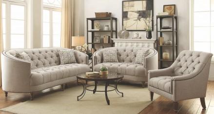 Coaster Avonlea Stone Grey Living Room Set - Avonlea Collection: 15