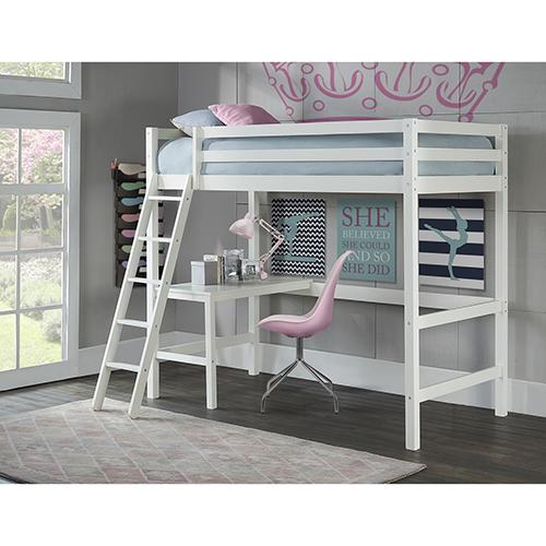 Ne Kids Hillsdale Caspain Twin Study Loft, White 2179 320   Bellacor