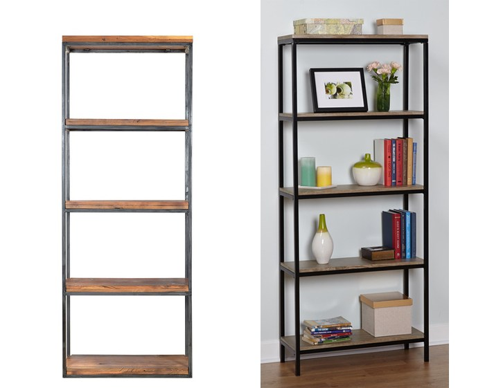 Ikea Hack: Wood and Metal Bookshelf - Real Happy Space